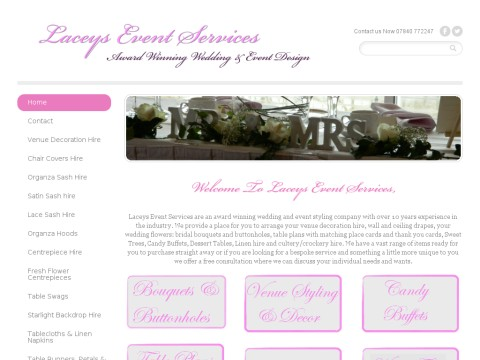 Laceys Event Services and Wedding Chair Cover Hire