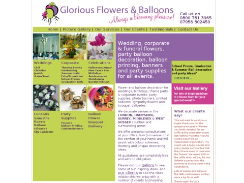 Glorious Flowers and Balloons