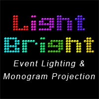 Light Bright Event Lighting and Monogram Projection