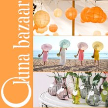Luna Bazaar Paper Lanterns Parasols Favors and Decor