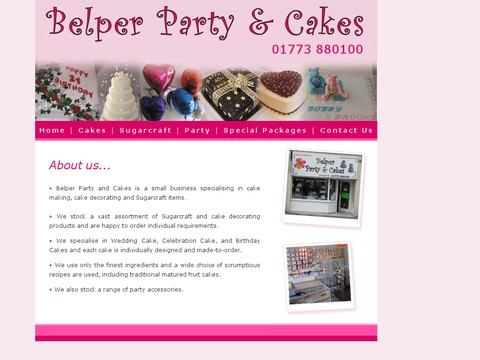 Belper Party Cakes