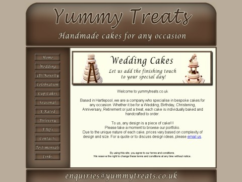 Cakes at Yummy Treats