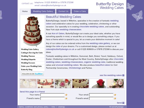 Butterfly Design Wedding Cakes