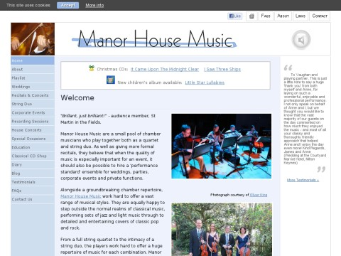 Manor House Music String Quartet
