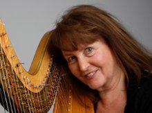 Harpist Sally Fletcher