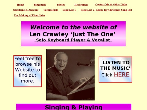 Len Crawley Singing and Playing