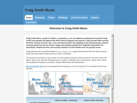 Craig Smith Solo Piano Lancashire