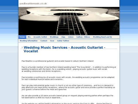 Paul Beattie Wedding Guitarist and Vocalist