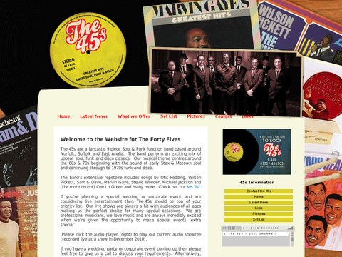 The Forty Fives 60 s and 70 s 8 Piece Soul and Funk Band