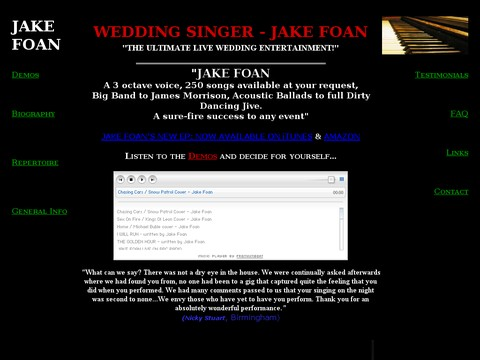 Jake Foan Wedding Singer Pianist