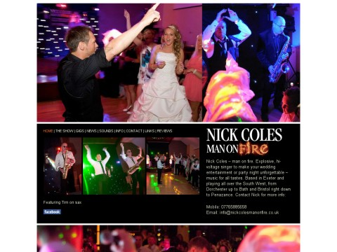 Nick Coles Man on Fire Wedding Singer