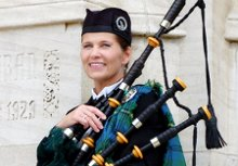 Kim Johnson Michigan Bagpiper