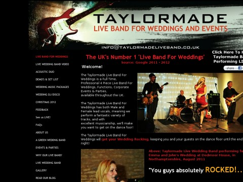 Taylormade Live Band For Weddings