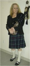 Cathy Worthley Bagpiper