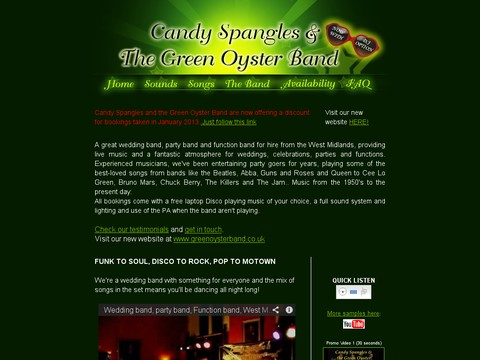 Candy Spangles and the Green Oyster Band