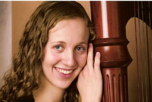 Brittany Hicken Burns Harpist