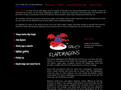 The Saucy Flapdragons
