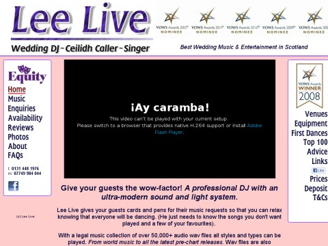 Lee Live Wedding DJ Ceilidh Caller Singer