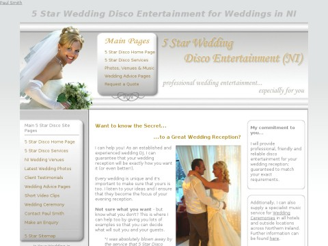 5 Star Wedding Disco Entertainment