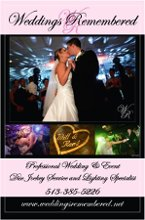 Weddings Remembered Professional DJ and Lighting Service