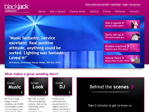 Blackjack Wedding Discos