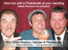 Crown Entertainment DJs Uplights and Photobooths