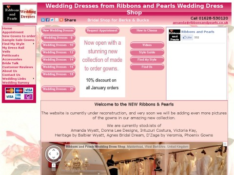 Ribbons and Pearls Wedding Dresses