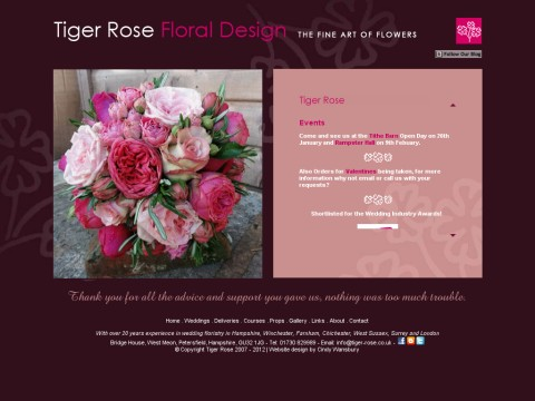 Tiger Rose Floral Design