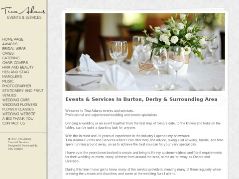 Tina Adams Wedding flowers events and services