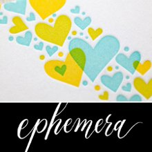Ephemera Letterpress Stationery Calligraphy More