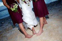 A Bidda Bling Beach Wedding Barefoot Sandals