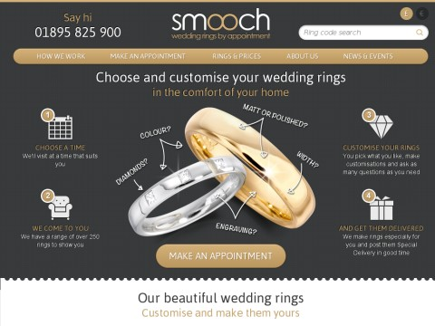 Smooch Wedding Rings by Appointment