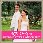 RK Designs Wedding Vows and Officiating