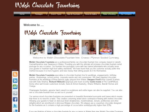 Welsh Chocolate fountains
