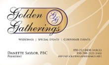Golden Gatherings Weddings and Special Events