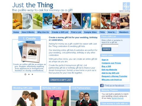 Just the Thing Gift List Company