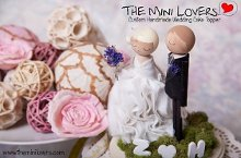 The Mini Lovers Custom handmade wedding cake toppers