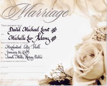 Wedding Certificates By Steve