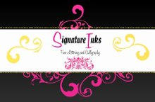 Signature Inks Hand Lettering and Calligraphy